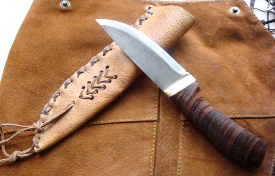 Ножны как сделать из кожи