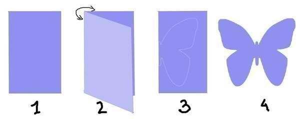 Как сделать бабочку из цветной бумаги своими