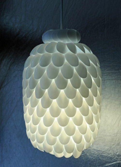 Люстра из пластиковых бутылок своими руками мастер класс