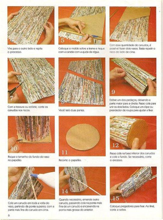 Пошаговое плетение из газет
