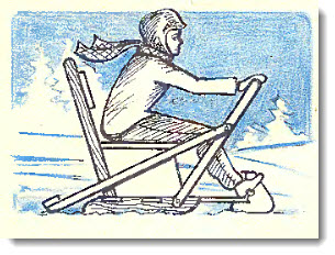 Как сделать снегокат из дерева
