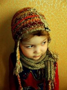 Комплект - шапочка+шарф