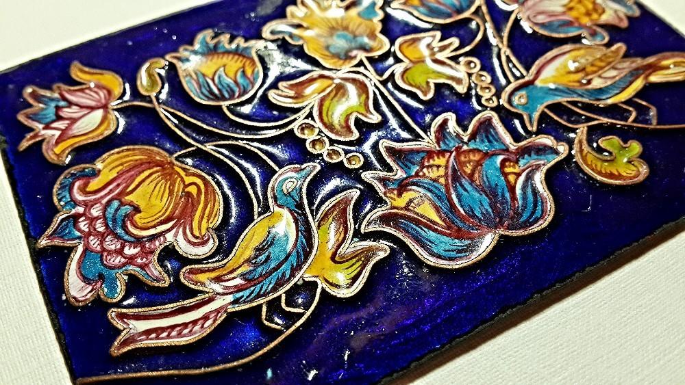 Роспись эмалью по металлу