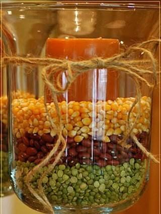 Как сделать вазу с зернами