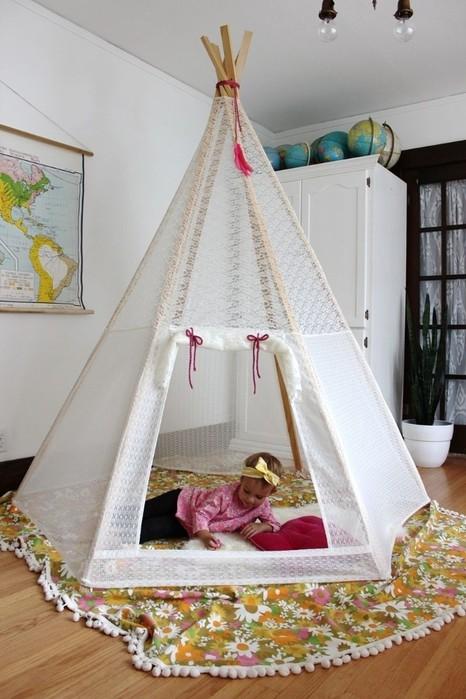 Палатка для ребенка своими руками из ткани 71