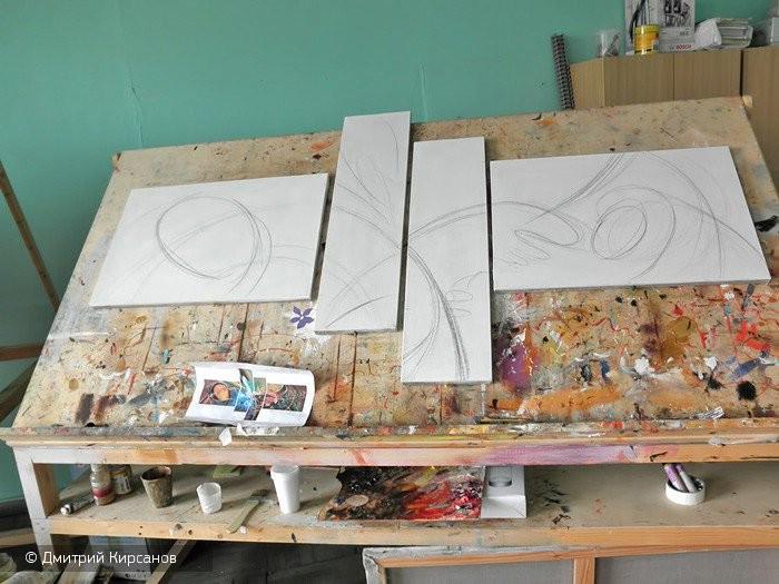 Модульные картины своими руками пошагово с фото 80