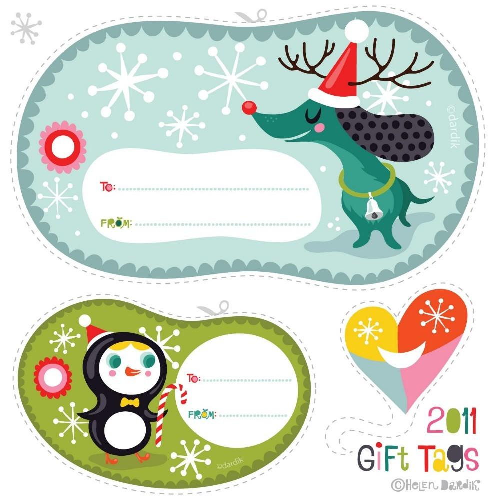 Бирка для новогодних подарков