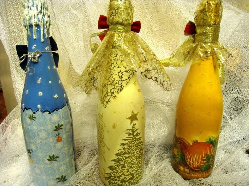 Съемное украшение для шампанского. Дед Мороз. Мастер 84