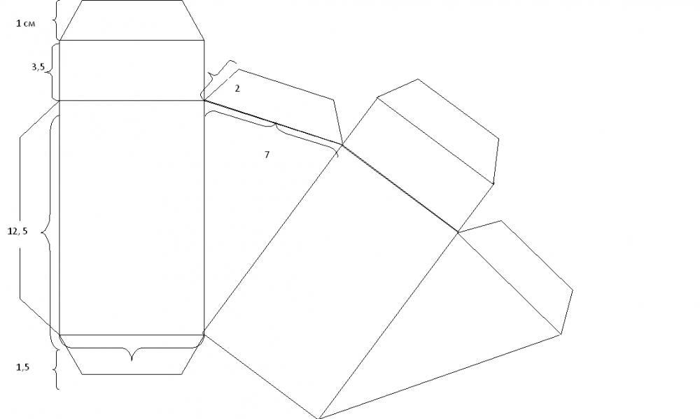 Коробки своими руками из бумаги схемы с размерами 41