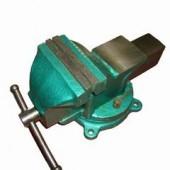 25430 Тиски 100мм слесарные поворотные чугунные зеленые SKRAB