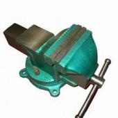25431 Тиски 125мм слесарные поворотные чугунные зеленые SKRAB