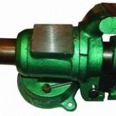 25433 Тиски 100мм универсальные поворотные с трубозажимом 2'',чугунные зеленые