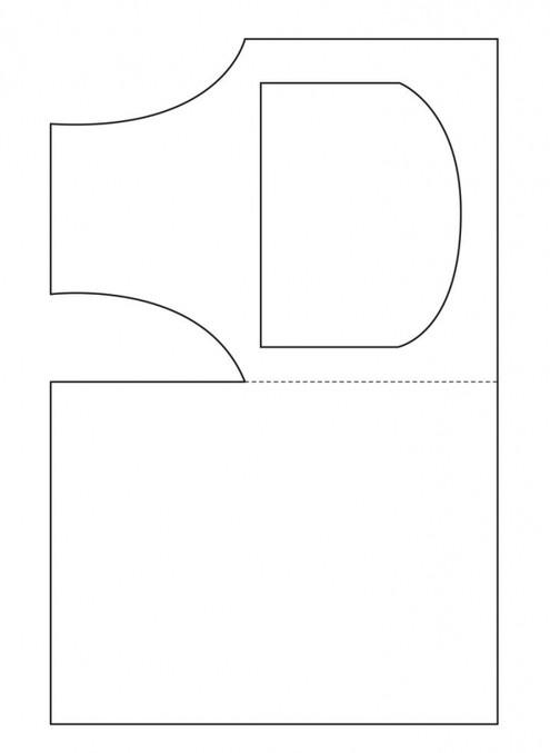 Фартук шаблон для открытки 97