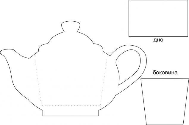 Своими руками открытка чайник
