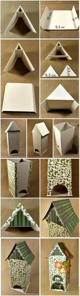 Как сделать своими руками домик для чайных пакетиков