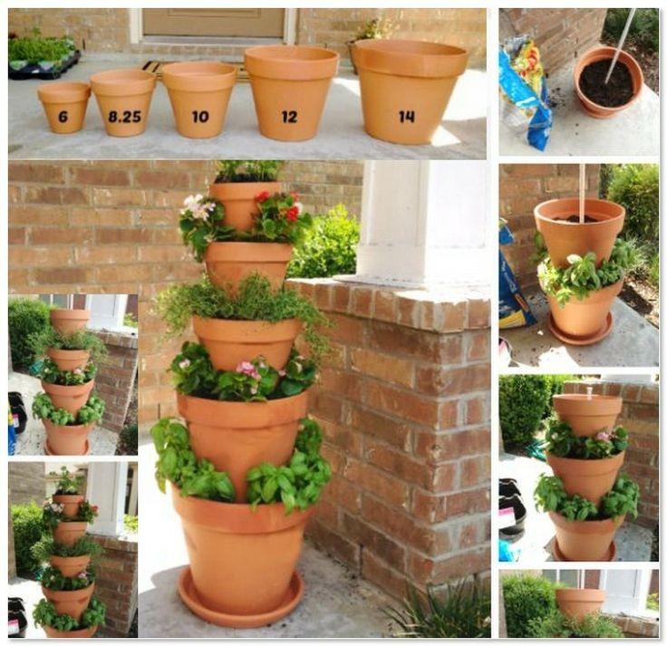 Как сделать горшки для цветов для сада