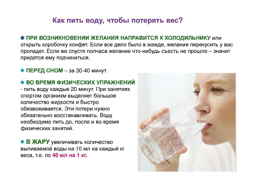 Сколько надо пить воды для похудения